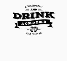 KEEP CALM AND DRINK A COLD BEER Men's Baseball ¾ T-Shirt