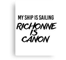 Richonne is canon. Canvas Print