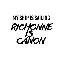 Richonne is canon. Photographic Print