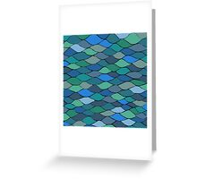 Waves and Scales Greeting Card