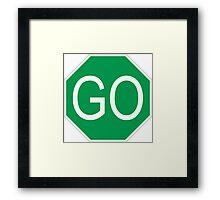 Go Sign Framed Print