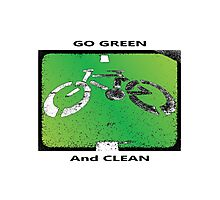 Green & Clean World Photographic Print