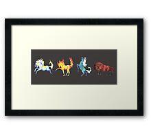 Four Horse Elements Framed Print