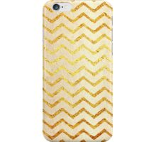 Faux Foil Gold Chevron Patter iPhone Case/Skin