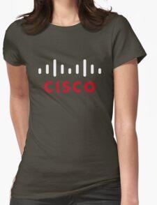 cisco retro Womens Fitted T-Shirt