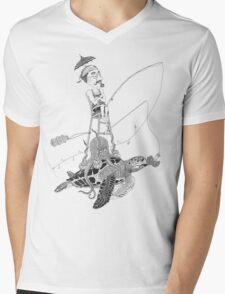 fisherman Mens V-Neck T-Shirt