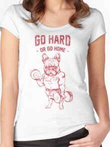 Pug go hard Women's Fitted Scoop T-Shirt