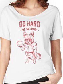 Pug go hard Women's Relaxed Fit T-Shirt