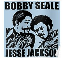 Bobby Seale and Jesse Jackson Poster