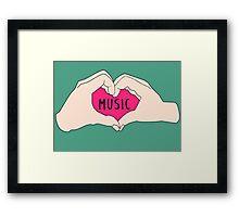 I love music Framed Print