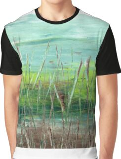 "Abstract - ""Green Marsh"" Graphic T-Shirt"