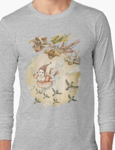 kite girl fly Long Sleeve T-Shirt