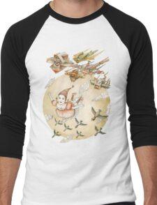 kite girl fly Men's Baseball ¾ T-Shirt