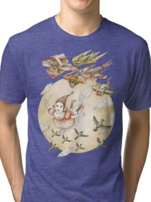 kite girl fly Tri-blend T-Shirt