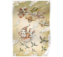 kite girl fly Poster