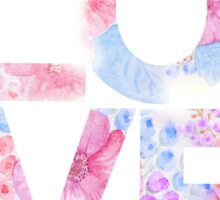 Floral Watercolor Love Typography Sticker
