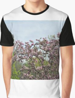 Blossoms and Watchers Graphic T-Shirt