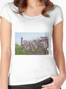 Blossoms and Watchers Women's Fitted Scoop T-Shirt