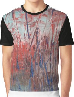 "Abstract - ""Red Marsh"" Graphic T-Shirt"