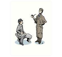 Victorian Sherlock and Watson Art Print