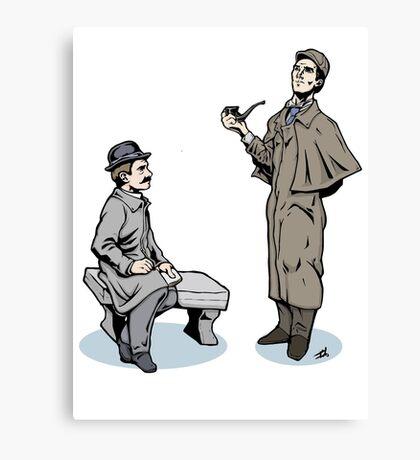 Victorian Sherlock and Watson Canvas Print