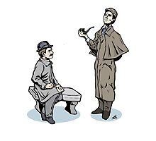 Victorian Sherlock and Watson Photographic Print