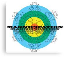 Magnification Snowflake Canvas Print