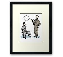 Victorian Sherlock and Watson - God, I hate him. Framed Print