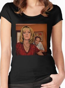 The Sopranos Painting Women's Fitted Scoop T-Shirt