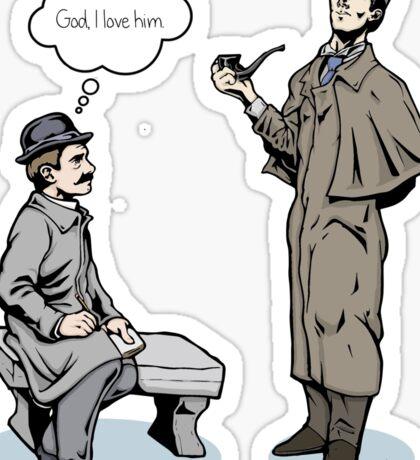 Victorian Sherlock and Watson - God, I love him.  Sticker