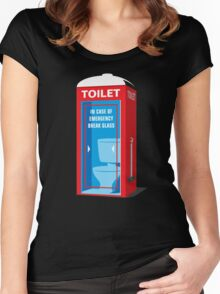Emergency Toilet Women's Fitted Scoop T-Shirt