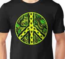 Circle of Peace Tangle with Colours Var 2 Unisex T-Shirt