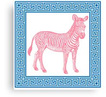 chinoiserie chic zebra pillow Canvas Print