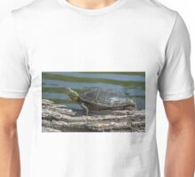 Painted Turtle Yawning Unisex T-Shirt