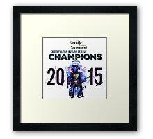 2015 COL Champions - Electric Horsemen Framed Print