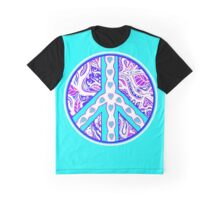 Circle of Peace Tangle with Colours Var 4 Graphic T-Shirt