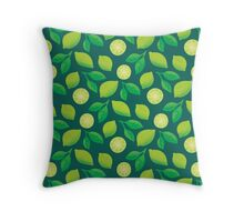 Citrus Fruits Pattern: Limes Throw Pillow