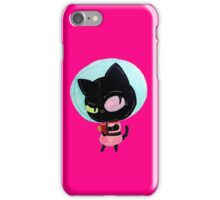 cookie cat's got a raygun iPhone Case/Skin