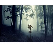 Skull Kid in Forest Photographic Print