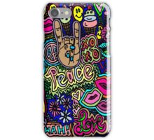 Peace signs and Pieces of Pizza iPhone Case/Skin
