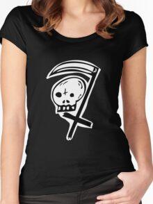 Skull Scythe  Women's Fitted Scoop T-Shirt