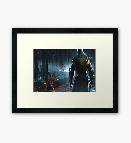Mortal Kombat and Frosty the Snow Man Framed Print