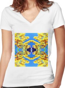 341 Bumble Women's Fitted V-Neck T-Shirt