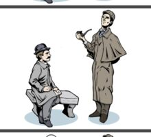 Victorian Sherlock and Watson - Love and Hate Sticker
