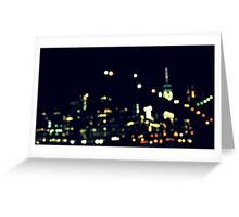 New York City Bokeh Greeting Card