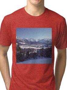 SNOWY MOUNTAINS Tri-blend T-Shirt