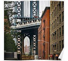 Manhattan Bridge and Empire State Poster
