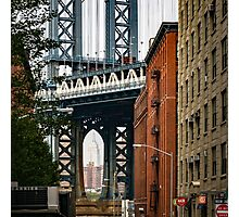 Manhattan Bridge and Empire State Photographic Print