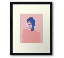 Pink portrait Framed Print