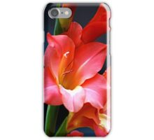 Flowers - coral gladiolas (2010) iPhone Case/Skin